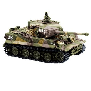 1:72 Radio Remote Control Mini German Tiger I Panzer Tank Toys with Sound