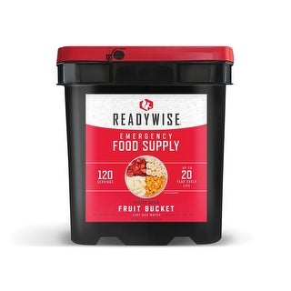 ReadyWise 120 Serving Freeze Dried Fruit Bucket - 11x10x15