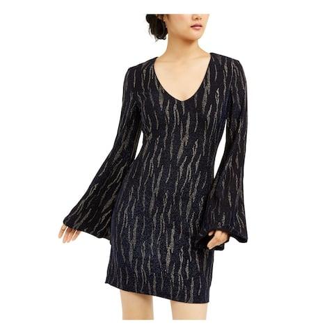 CITY STUDIO Black Bell Sleeve Short Dress XXL