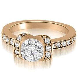 0.75 cttw. 14K Rose Gold Round Cut Diamond Engagement Ring