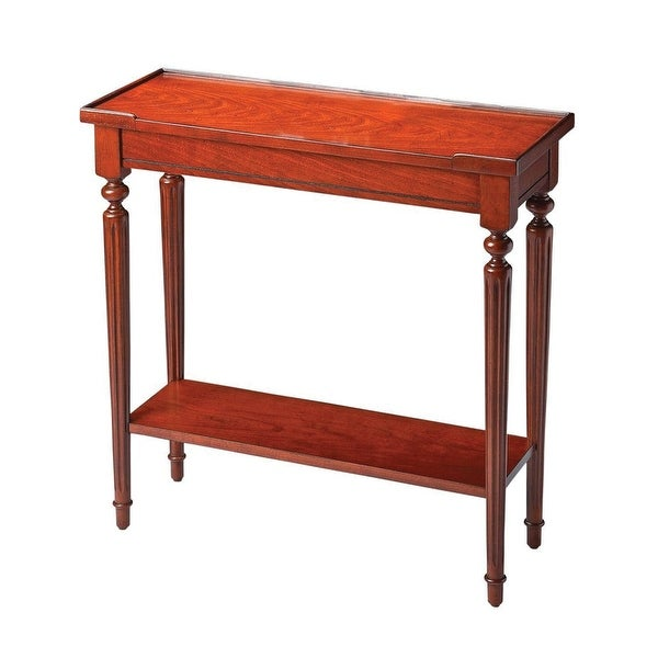 Offex Traditional Rectangular Console Table - Dark Brown