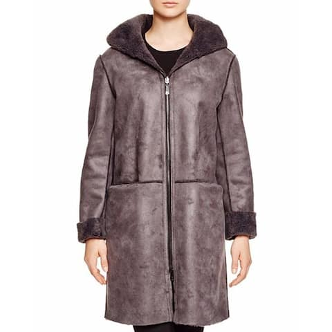 Dl2 by Dawn Levy Teddy Reversible Basic Hooded Coat (XS)