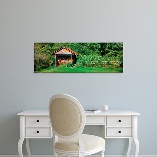 Easy Art Prints Panoramic Images's 'Shed in a garden, Poland' Premium Canvas Art