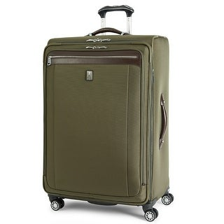 "Travelpro Platinum Magna 2 -Olive 29"" Nylon Fabric Expandable Rollaboard Suiter w/ Duraguard Coating"