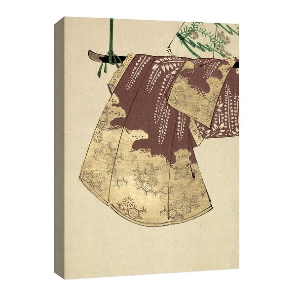 """PTM Images 9-126683 PTM Canvas Collection 8"""" x 10"""" - """"Gold Kimono"""" Giclee Japanese Art Print on Canvas"""