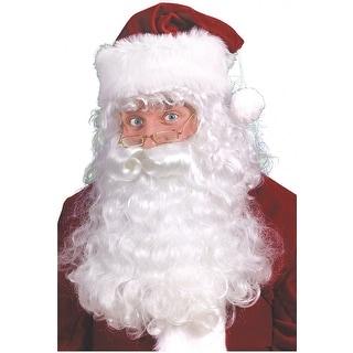 Santa Beard, Wig & Eyebrows Set Adult Costume Accessory