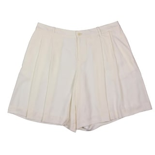 Lauren Ralph Lauren Womens Double Pleat High Waist Dress Shorts