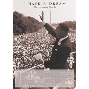 ''I Have a Dream: Martin Luther King Jr.'' by Corbis Archive African American Art Print (36 x 24 in.)