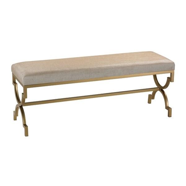 Elk Home 180-003 Double Bench in Cream Metallic Linen - Gold