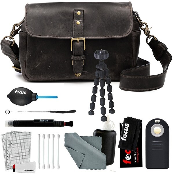 "ONA ""The Bowery"" Leather DSLR Messenger Bag, Dark Truffle & Photo Accessory Kit"