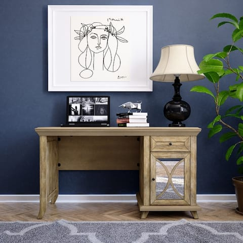 Modern Vintage 1 Drawer and 1 Door Writing Desk