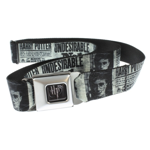 """Harry Potter Seatbelt Belt - """"Undesirable No. 1"""" Newspaper Article-Holds Pants Up"""