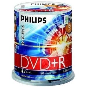Philips DR4S6B00F/17 Philips 16x DVD+R Media - 4.7GB - 100 Pack