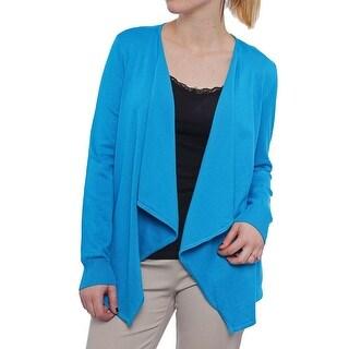 Thalia Sodi Lace-up Flyaway Cardigan Women Regular Sweater
