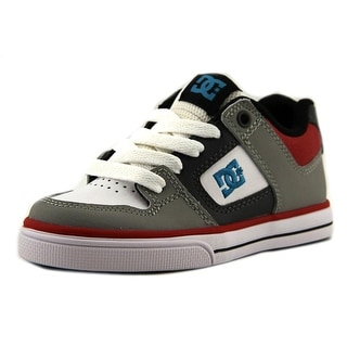 DC Shoes Pure Youth  Round Toe Leather Gray Skate Shoe