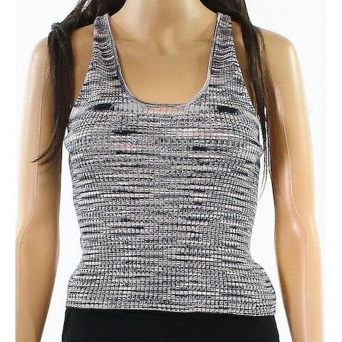 Abound Women's Medium U-Neck Halter Marled Knit Top $22
