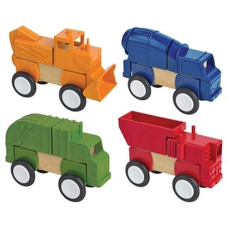 Link to Guidecraft Construction Vehicles Block Set, 4 Pieces Similar Items in Building Blocks & Sets