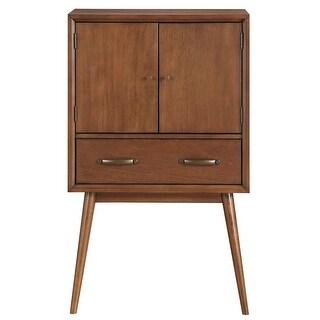 """Delacora HM-DS-D061004 Draper 30"""" Wide Hardwood Bar/Wine Cabinet - brown honey - N/A"""
