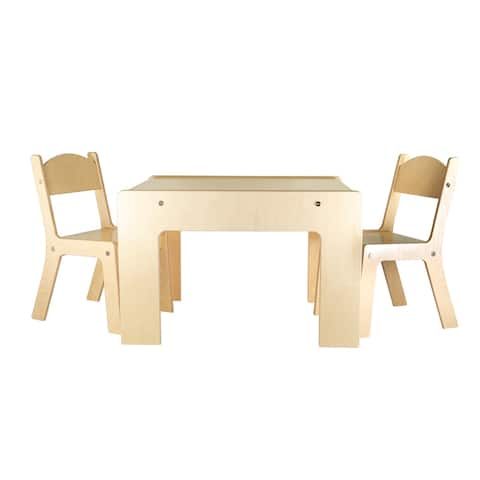 Little Colorado Modern Birch Arts & Crafts Table and Chair Set
