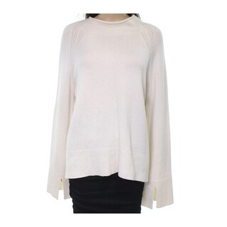 Theory NEW White Ivory Womens Size Large L Crew Neck Cashmere Sweater