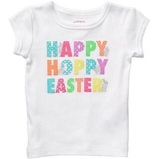 Carter's Baby Girls' Sparkle Easter Happy Hoppy Easter T-Shirt