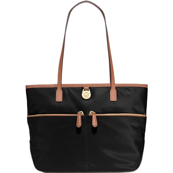 ff4afa4f1934 MICHAEL Michael Kors Womens Kempton Tote Handbag Contrast Trim Signature -  Medium