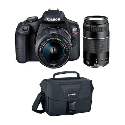 Canon EOS Rebel T7 DSLR Camera w/ 18-55mm & 75-300mm Lenses Basic Kit