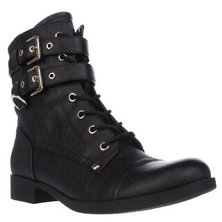 G by GUESS Bell Combat Boots - Black