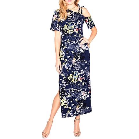 Rachel Rachel Roy Womens Maxi Dress One Shoulder Floral Print