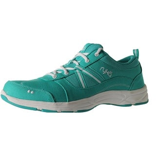 Ryka Womens Tempo Canvas Lace-Up Sneakers - 10 wide (c,d,w)
