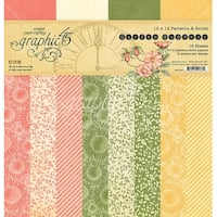 """Graphic 45 Double-Sided Paper Pad 12""""X12"""" 16/Pkg-Garden Goddess, 8 Designs/2 Each"""