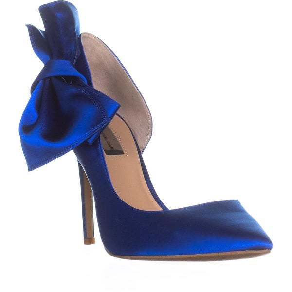 I35 Kalea Side Bow Pointed Toe Heels, Dazzling Blue - 9.5 us