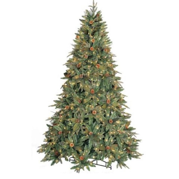 9' Green River Spruce Pre-Lit Artificial Christmas Tree - Clear Lights
