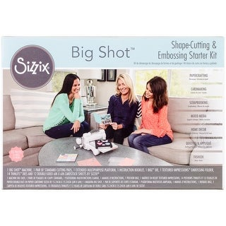 White W/Gray - Sizzix Big Shot Starter Kit