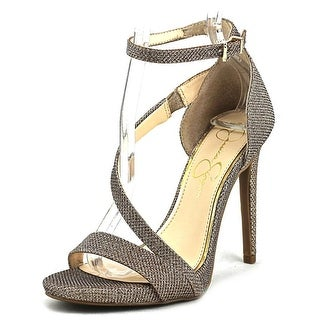 Jessica Simpson Rayli Open-Toe Canvas Heels