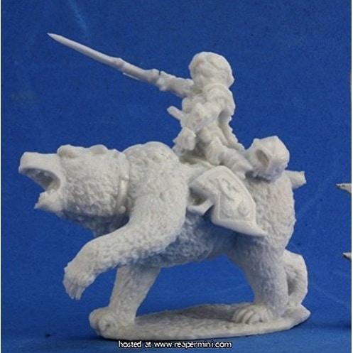 Bones Ursula, Dwarven Bear Rider Miniature Reaper
