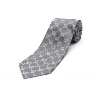 Versace Men's Medusa Logo Silk Neck Tie B1224-0005 Grey
