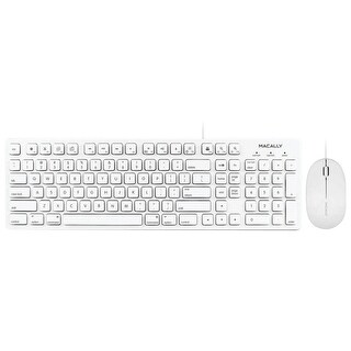 Macally 103-key Full-size Usb Keyboard With Shortcut Keys & 3-button Usb Optical Mouse Combo For