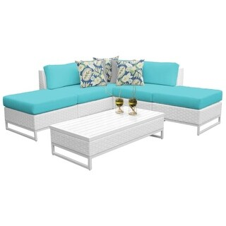 Florida 6-Piece Aluminum Framed Outdoor Conversation Set with Ottomans (More options available)