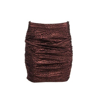 Roseanna Womens Mini Skirt Metallic Textured - M