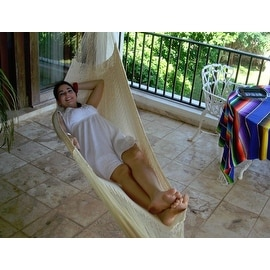 Sunnydaze Natural Colored Mayan Hammock - Sizes Options Available