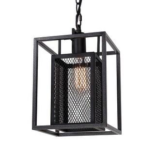 Vintage Industrial 1-Light Black Iron Pendant for Kitchen