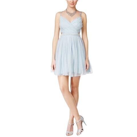 Speechless Womens Tulle A-Line Dress