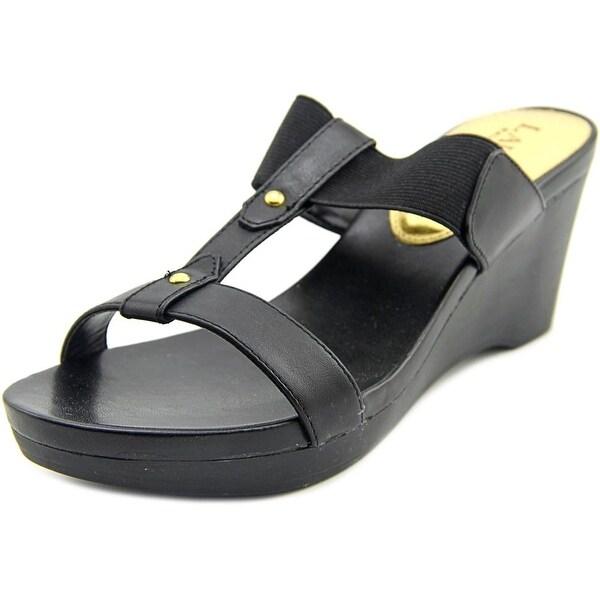 Lauren Ralph Lauren Rue Wedge Women Black Sandals
