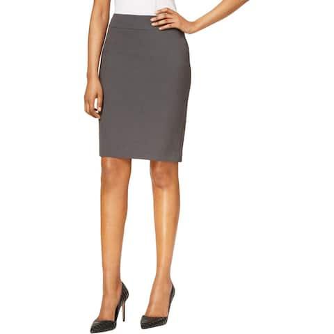 Nine West Womens Pencil Skirt Knee-Length Solid