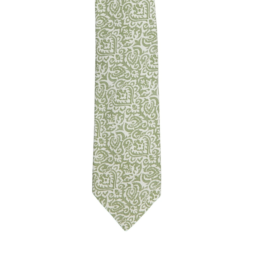 Isaia Napoli Men Brown Gold 100/% Silk Medallion Pattern 7 Fold Tie RTL$235 NWT