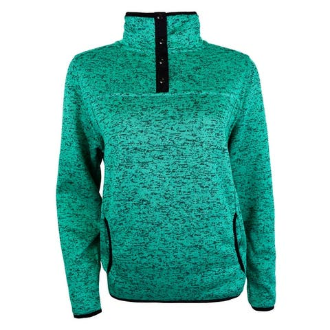 Victory Outfitters Ladies' Knit Fleece Salt & Pepper Placket Pullover