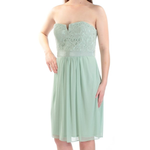 a7af507e81e73 Adrianna Papell Green Women's Size 14 Lace Strapless Tulle Dress