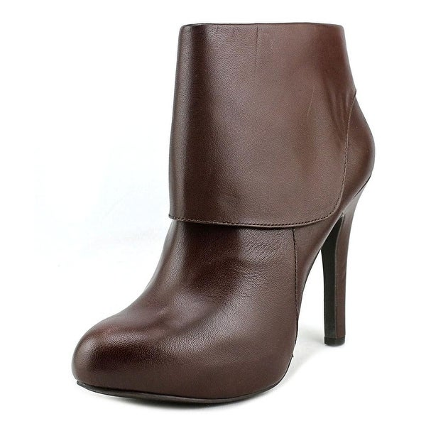 Jessica Simpson Addey Women Round Toe Leather Brown Ankle Boot