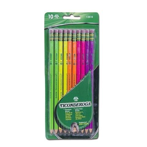 Dixon Ticonderoga DIX13810BN Ticonderoga Neon Wood Pencil - Pack of 6